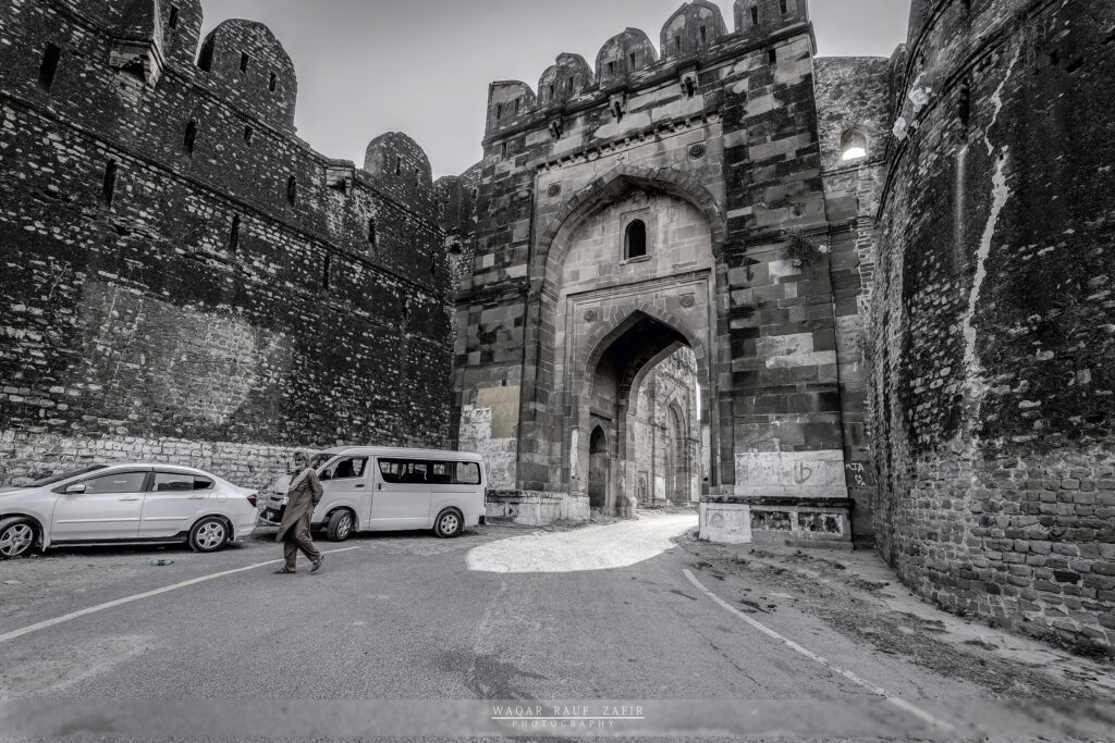 The main entrance of the fort built by Sher shah suri